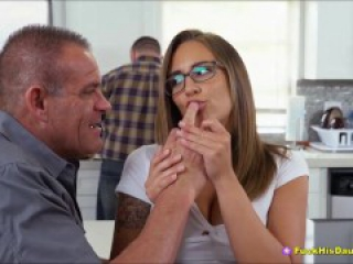 Teen Slut Seduces & Fucks Dads Best Friend