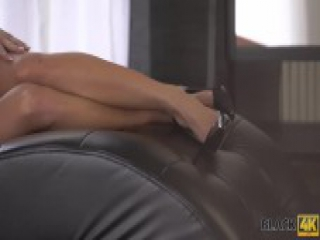 BLACK4K. Chrissy gets cunnilingus and pussy-fucking from black guy