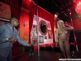 Big Natural Breast black stripper has sex in champagne room