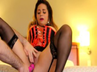 Angels in her Corset Gets a Creampie and Keeps Fucking