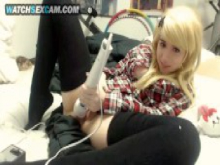 Blonde Petite Busty Lolita Teen Girl In Schoolgirl Uniform Masturbates With Hitachi Vibrator At Home Amateur Young Webcam Sex Show Free HD Cam Sex Porn Video