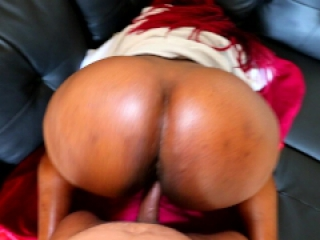 Black Teen With HUGE FAT ASS Gets A Backshot On My New Couch - Jade Jordan