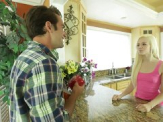 Hot blonde teen Elsa Jean gives perfect blowjob