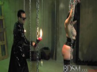 BDSM XXX Suspension and anal for big breasted sub