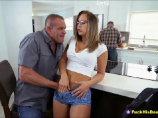 Horny Teenage Cutie Fucking Dads Best Buddy