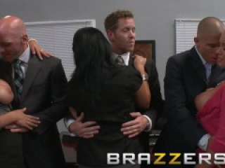 BRAZZERS - Lexi Swallow & Nicole Aniston get fucked in office 4some