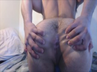 Muscular Transman FTM Stripping, Hard Pussy Fuck with Dildo