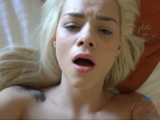 Elsa Jean is about to leave but lets you cum on her one last time